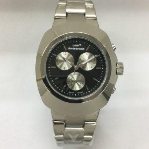 Swistrak Silver Wrist Watch Black/Blue/White