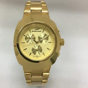 Swistrack ST9046 Golden Dail & Golden Case Watch